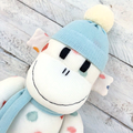 'Ash' the Sock Monkey - cream with coloured spots - *READY TO POST*
