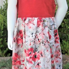 Poppy floral print Pinafore