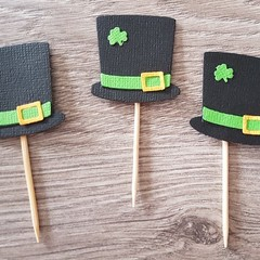 Cupcake Toppers - St Patrick's Day Hat