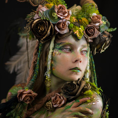 Forest Goddess Head Piece Ex prop