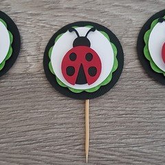 Cupcake Toppers - Lady bugs