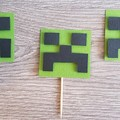 Cupcake Toppers - Minecraft