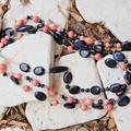 Wood & Gemstone Necklace