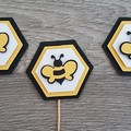Cupcake Toppers - Bumble Bees