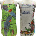 COCKATOOS or Wildflowers - Vintage Linen Tea Towel APRON : Choose One