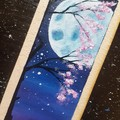 Cherry Tree/Moon Bookmark
