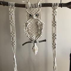 Macrame Owl Hanging Shelf
