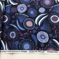 Jocelyn Proust Gum Blossom Navy cotton/linen fabric 150cm - 5m