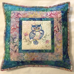 Batik cushion cover - OWL