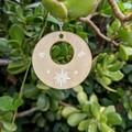 White Flower Wooden Earrings