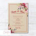 Rustic Boho Wedding Invitations - DIGITAL FILE