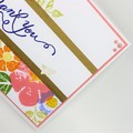 Thank You Card - Thanks, multi stamp, colourful floral and greenery