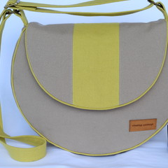 Canvas crossbody or shoulder bag
