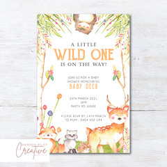 Woodland/Forest Animals Baby Shower Invitation - DIGITAL FILE