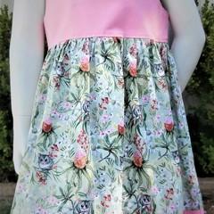 Aussie Floral & Possum Summer Dress-Size 4
