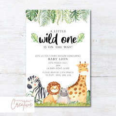 Woodland/Forest Animals Baby Shower Invitation