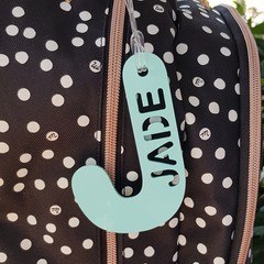Personalised Acrylic bag tags - Back to school