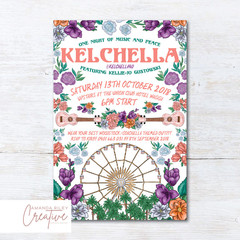 Coachella/Festival/Boho Birthday Invitations