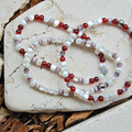 Red & White Bracelet Stack