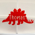 Stegosaurus Label with Name Cutout