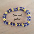 Bohemian woven seed bead bracelet on elastic string, multiple colours