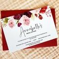Blush & Burgundy Blooms Bridal Shower Invitations