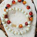 Red & Gold Bracelet Stack