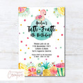 Tutti Frutti/Tropical/Flamingo Birthday Party Invitation