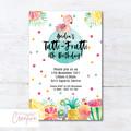 Tutti Frutti/Tropical/Flamingo Birthday Party Invitation - DIGITAL FILE
