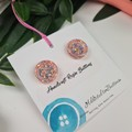 Fizz Sorbet Gilltering - Button Fusion Necklace - Button Jewellery