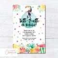 Tutti Frutti/Tropical/Toucan Birthday Party Invitation - DIGITAL FILE