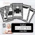 Print Your Own Baby Milestone Cards - Monochrome - DIGITAL FILE