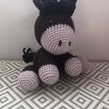 Handmade crochet horse