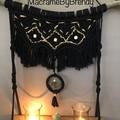 Black Macrame Tealight Candle Wall Hanging