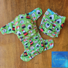 Reusable Cloth Nappy - Sushi in Green