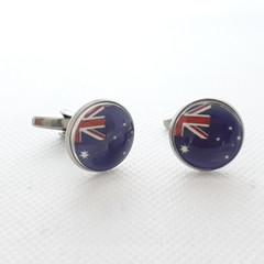 Aussie Flag Cufflinks, Australia Day cuff links