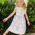 Unicorns Tea Party Dress, Size 3 4 or 5, Girls Dresses