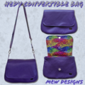 Hedy Convertible Clutch - Purple Leather