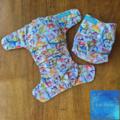 Reusable Cloth Nappy - Dino Dash