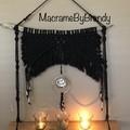 Black Bling Macrame Tealight Candle Wall Hanging