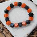 Hand painted Wood Bead Bracelet Set