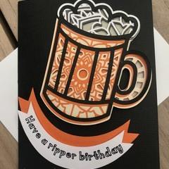 Beer mandala card