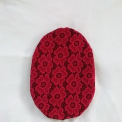 Stoma/ Ostomy Cover - REGULAR  RED LACE/BLACK