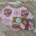 Paw Patrol Bandana Bib and headband set, Baby bib, dribble bib,