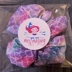 Mermaid Scrunchie, Fairy Floss Scrunchie, Friendship Scrunchie, Scented
