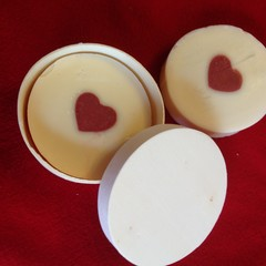 Natural Handmade Gift idea Love Heart in the Centre Australian Soap