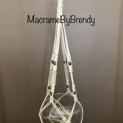 'Lucy' Macrame Pot Plant Hanger Without a Tassel