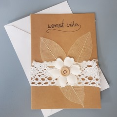 Lace birthday card