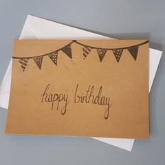 Stamp birthday card