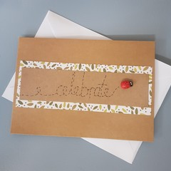 Lady bird celebrate card